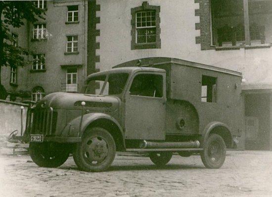 Samochód będący na wyposażeniu jednostki przy ul. Grunwaldzkiej
