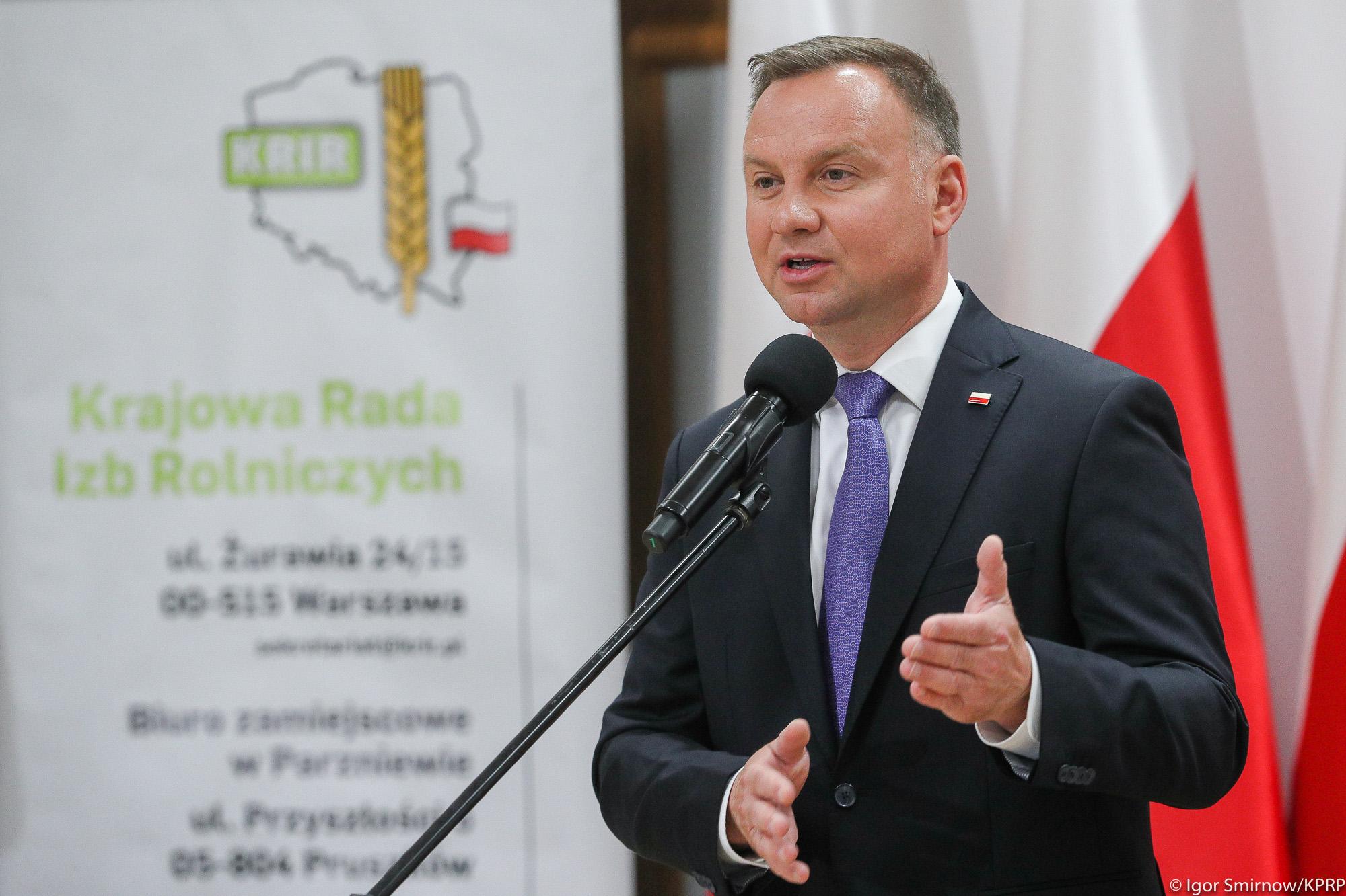 Prezydent RP Andrzej Duda podczas posiedzenia KRIR (Fot. Igor Smirnow KPRP)