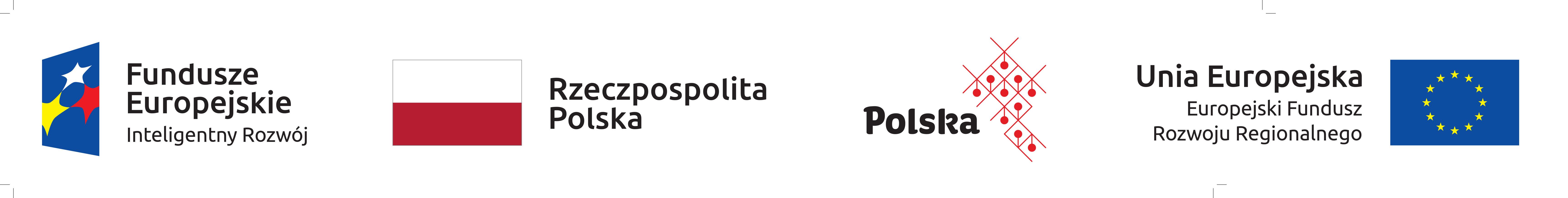 Logo Funduszy Europejskich-Inteligentny Rozwój, Rzeczpospolitej Polskiej, Maki Polskiej Gospodarki i Europejskiego Funduszu Rozwoju Regionalnego