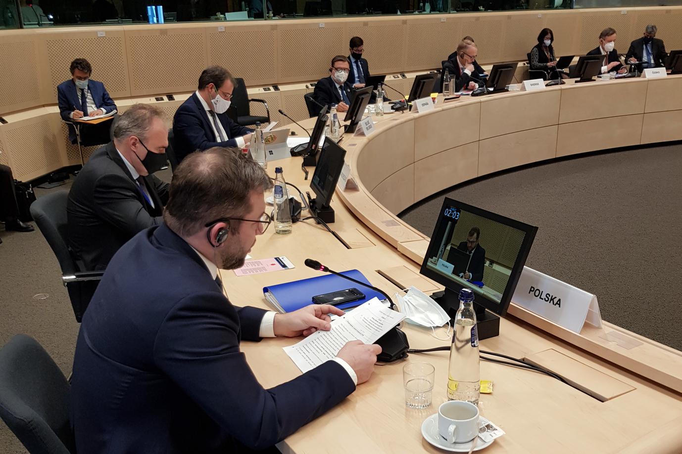 Minister Grzegorz Puda podczas Rady