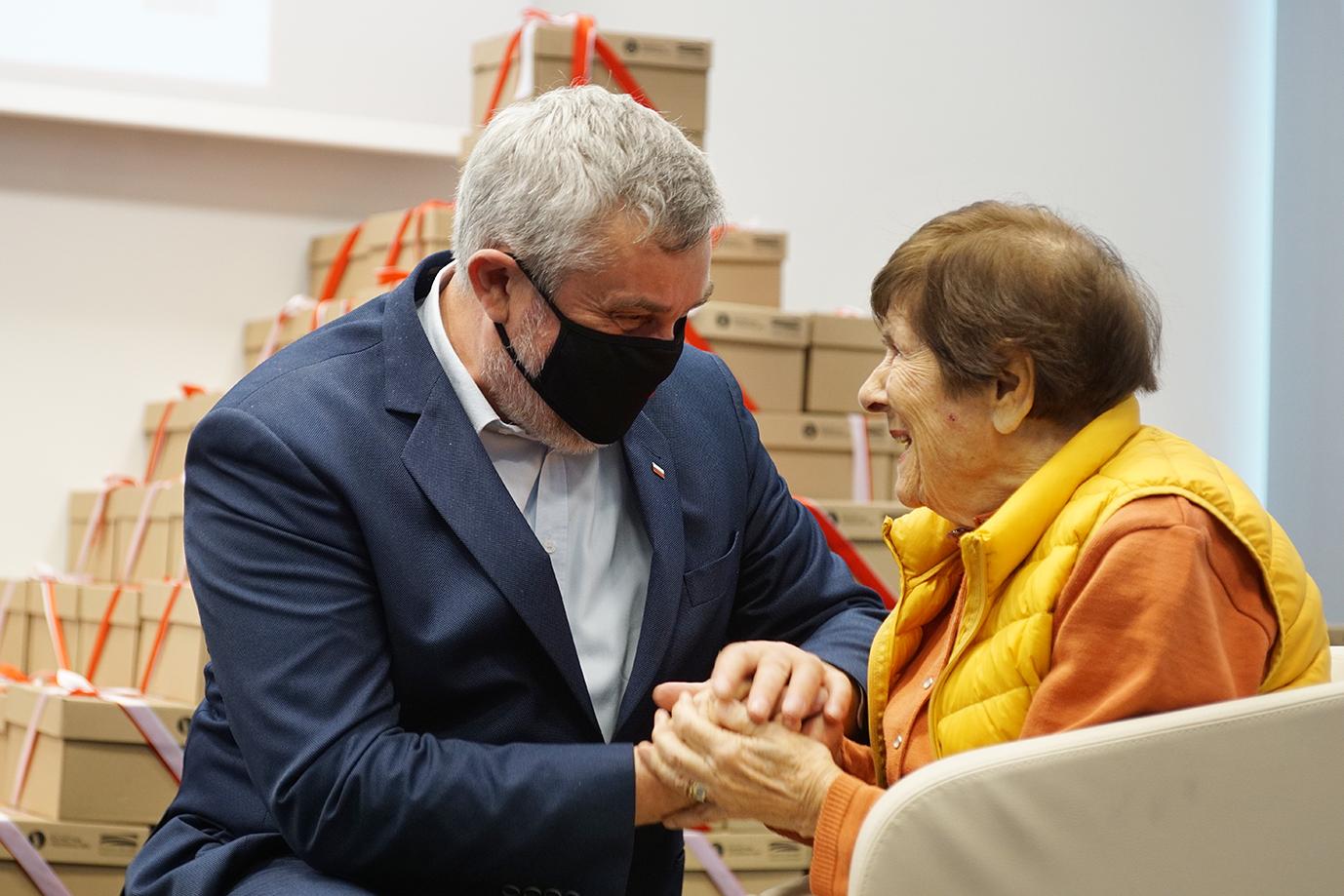min. J.K. Ardanowskie z panią Jadwigą Przybylską-Wolf