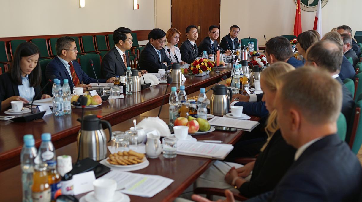 Spotkanie polskiej i chińskiej delegacji w Ministerstwie Rolnictwa