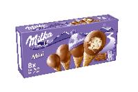 Milka Mini Vanilla & chocolate (mini rożki) 8 x 25 ml
