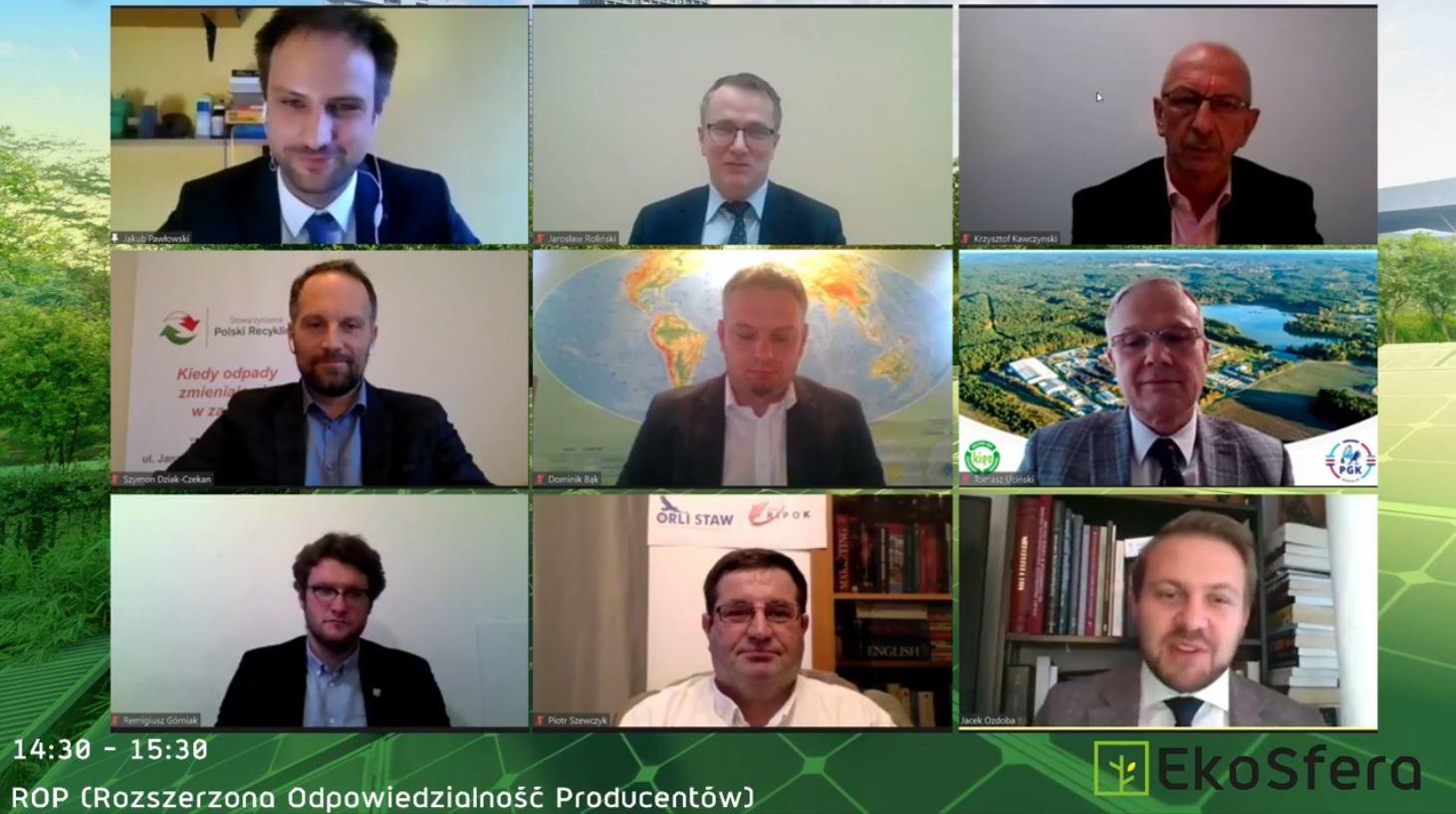 """wiceminister klimatu i środowiska Jacek Ozdoba podczas pierwszego dnia konferencji """"EkoSfera"""""""