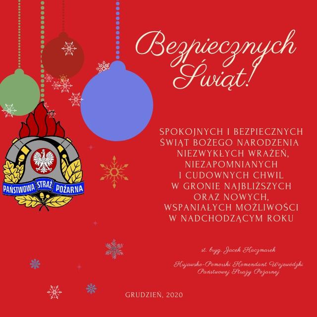 Życzenia KW PSP w Toruniu