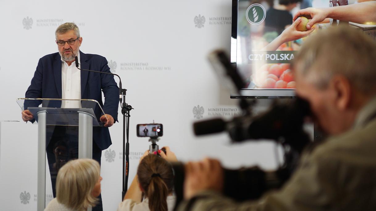 Konferencja prasowa ministra Ardanowskiego na temat cen polskiej żywności