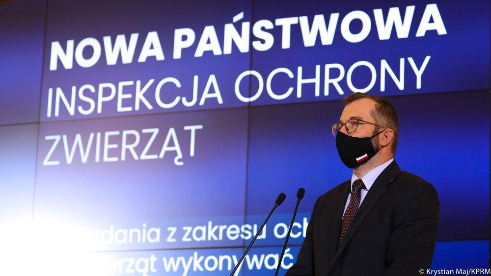 Minister Grzegorz Puda podczas konferencji prasowej Fot. Krystian Maj KPRM