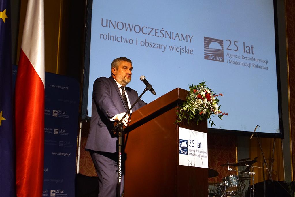 Minister J. K. Ardanowski podczas wystąpienia