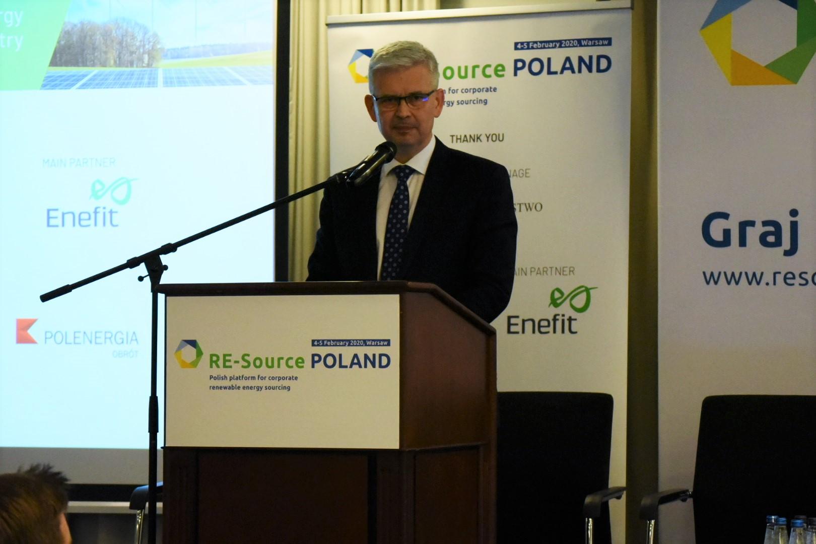 Wiceminister Zyska o czystej energii z OZE
