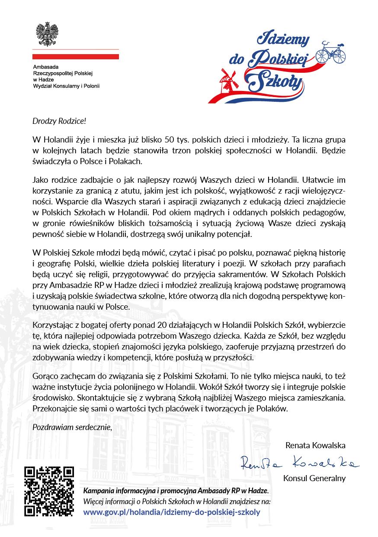 List Konsul Generalnej