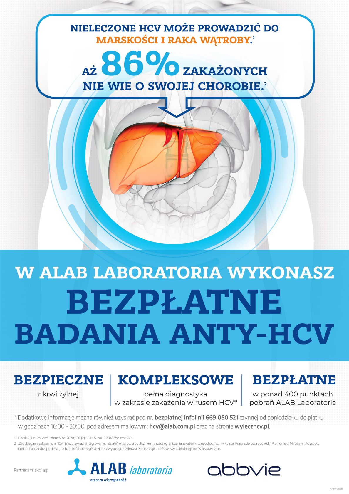 Plakat promujący badania anty-hcv