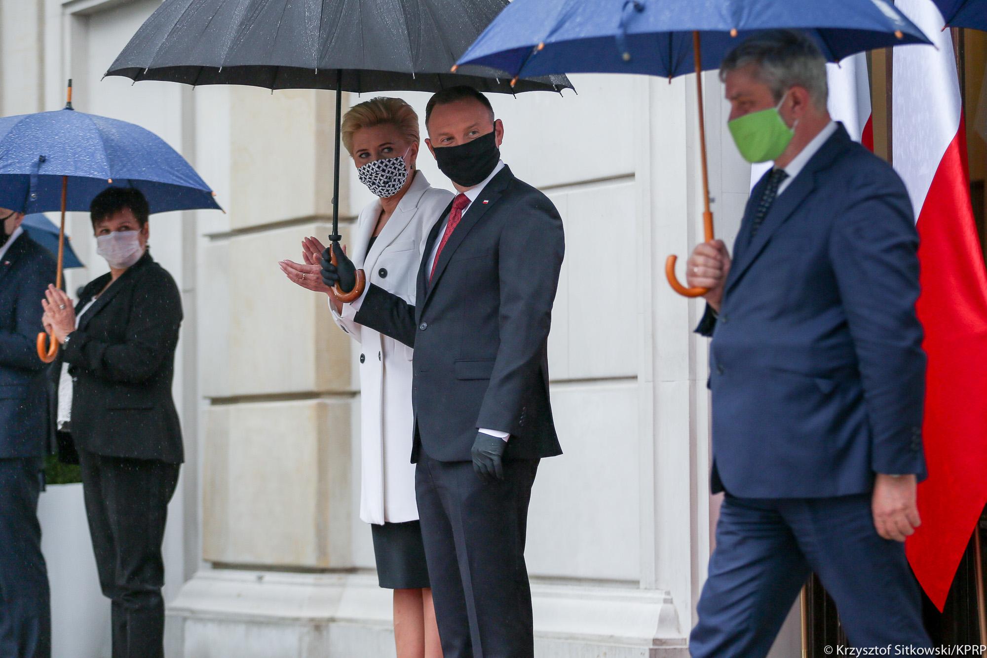 Para Prezydencka oraz minister J. K. Ardanowski podczas uroczystej Gali AgroLigi 2019