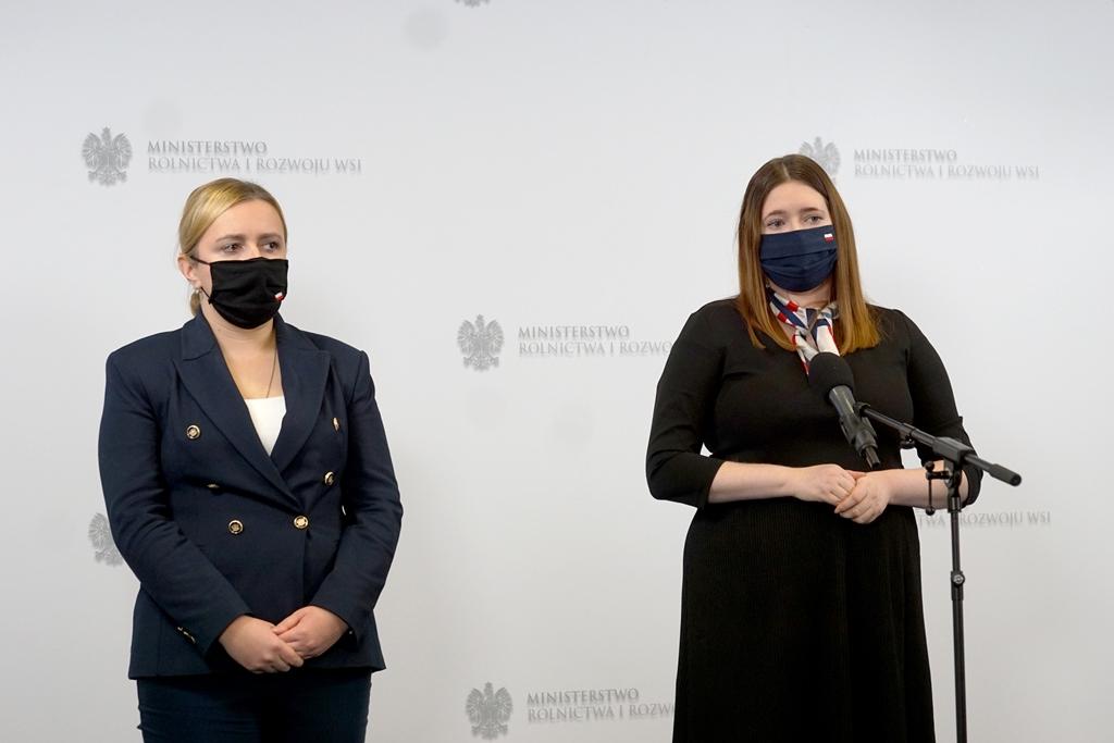 Sekretarz stanu Anna Gembicka podczas wypowiedzi