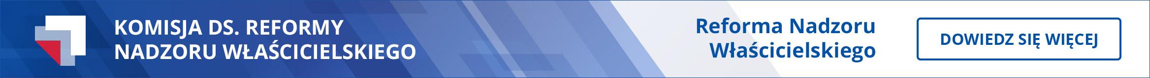 banner komisja ds. reformy nadzoru właścicielskiego