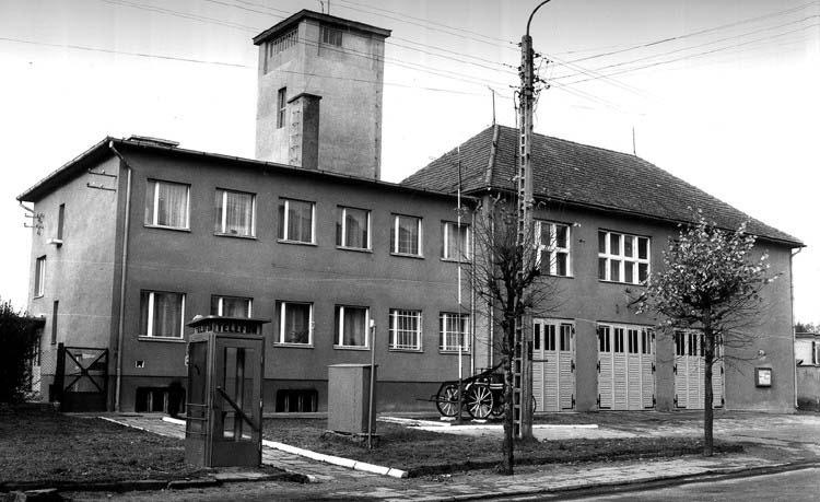 budynek KP PSP w Sępólnie krajeńskim- zdjęcie archiwalne