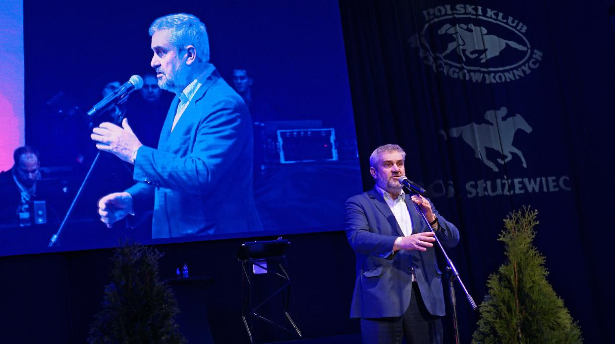 Minister J. K. Ardanowski podczas przemówienia