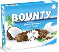 BOUNTY ice cream bar 39.1g - 4-pack box