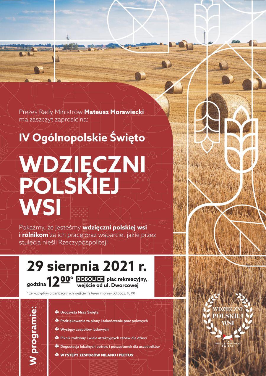 Plakat IV Ogólnopolskie Święto Wdzięczni Polskiej Wsi