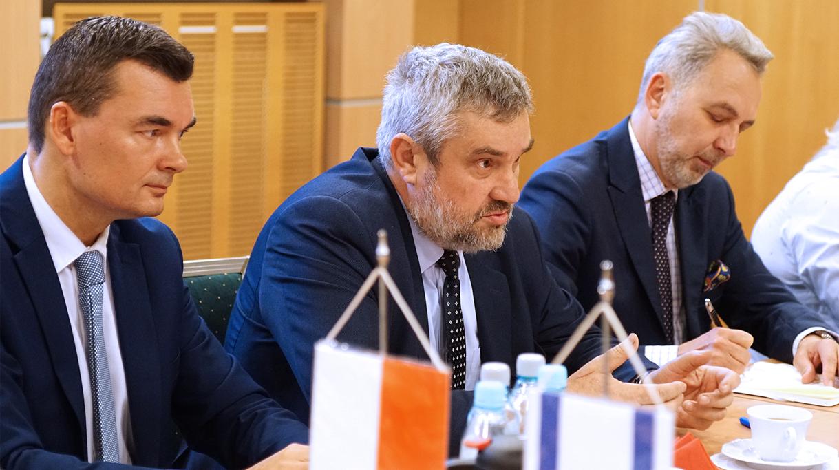 Minister J. K. Ardanowski w trakcie spotkania z ambasadorem Izraela