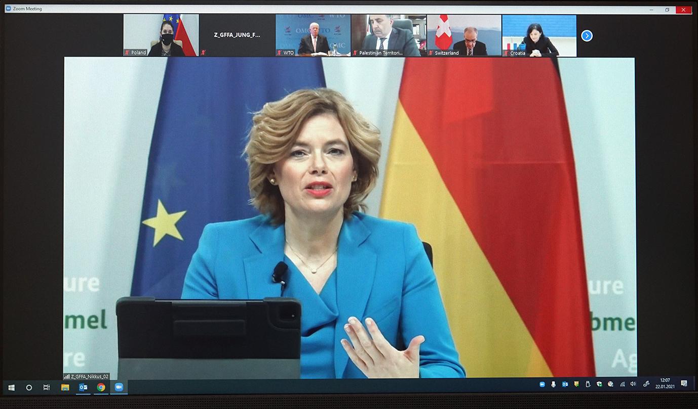 Gospodarz spotkania minister wyżywienia i rolnictwa Niemiec Julia Klöckner (Fot. MRiRW)