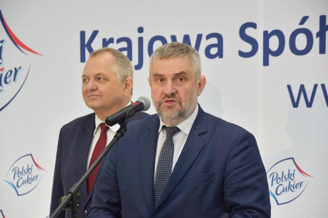 Minister J.K. Ardanowski i wiceminister R. Zarudzki podczas uroczystości