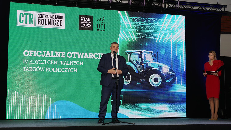 Minister J. K. Ardanowski podczas otwarcia Centralnych Targów Rolniczych
