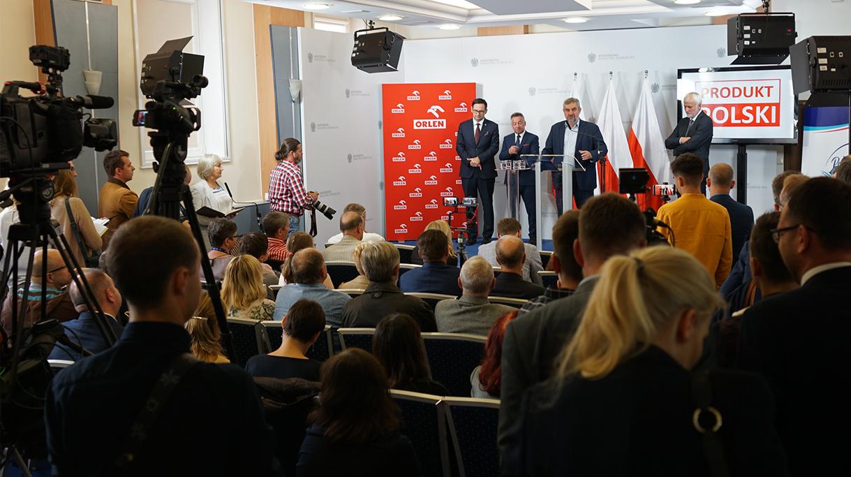 Konferencja prasowa promująca polskie produkty