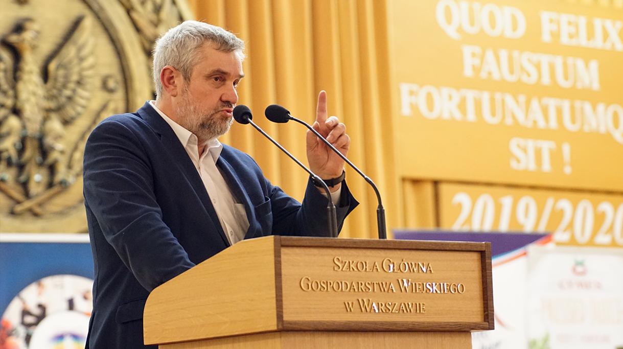 Wystąpienie ministra J. K. Ardanowskiego