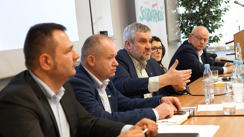 Min. J. K. Ardanowski przemawiający podczas spotkania