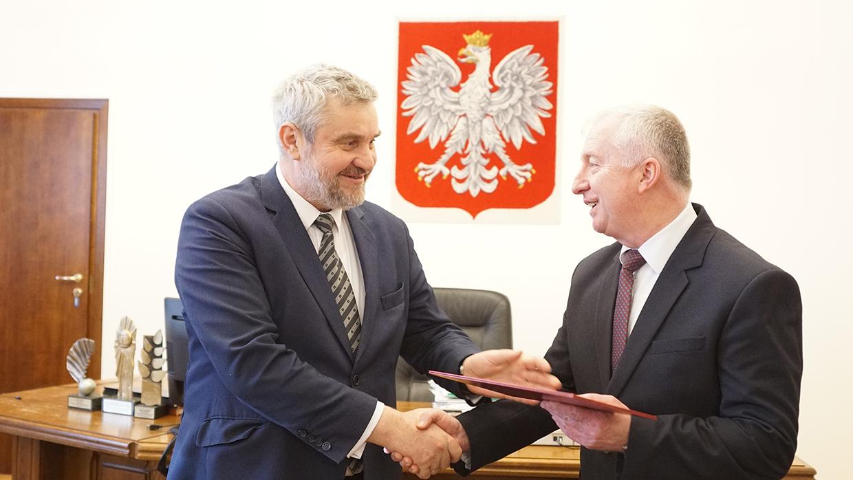 Wręczenie nominacji na stanowisko podsekretarza stanu Ryszardowi Kamińskiemu