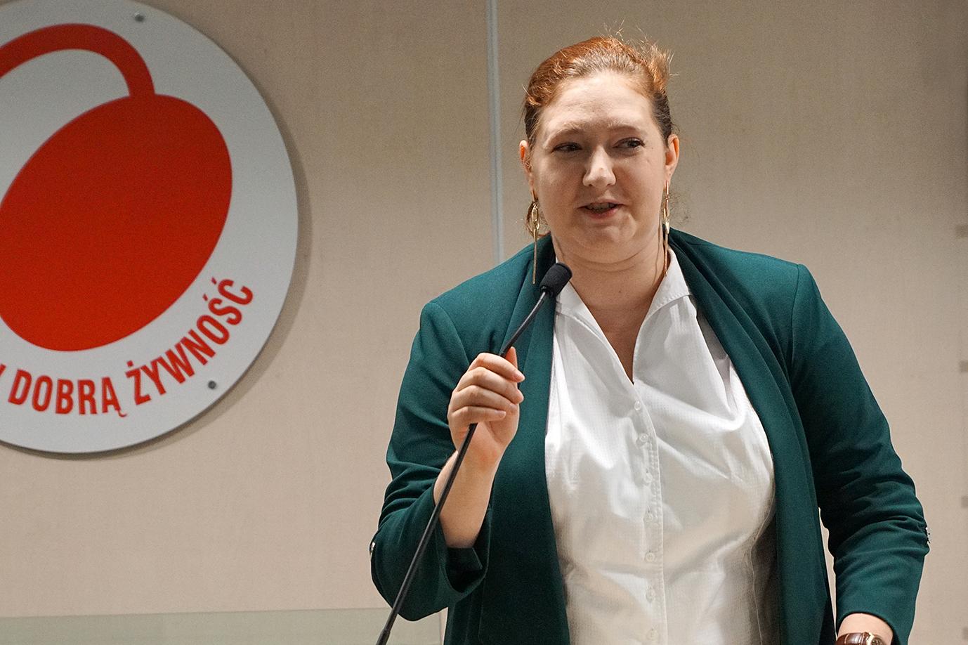 Sekretarz stanu Anna Gembicka podczas wystąpienia (fot. MRiRW)