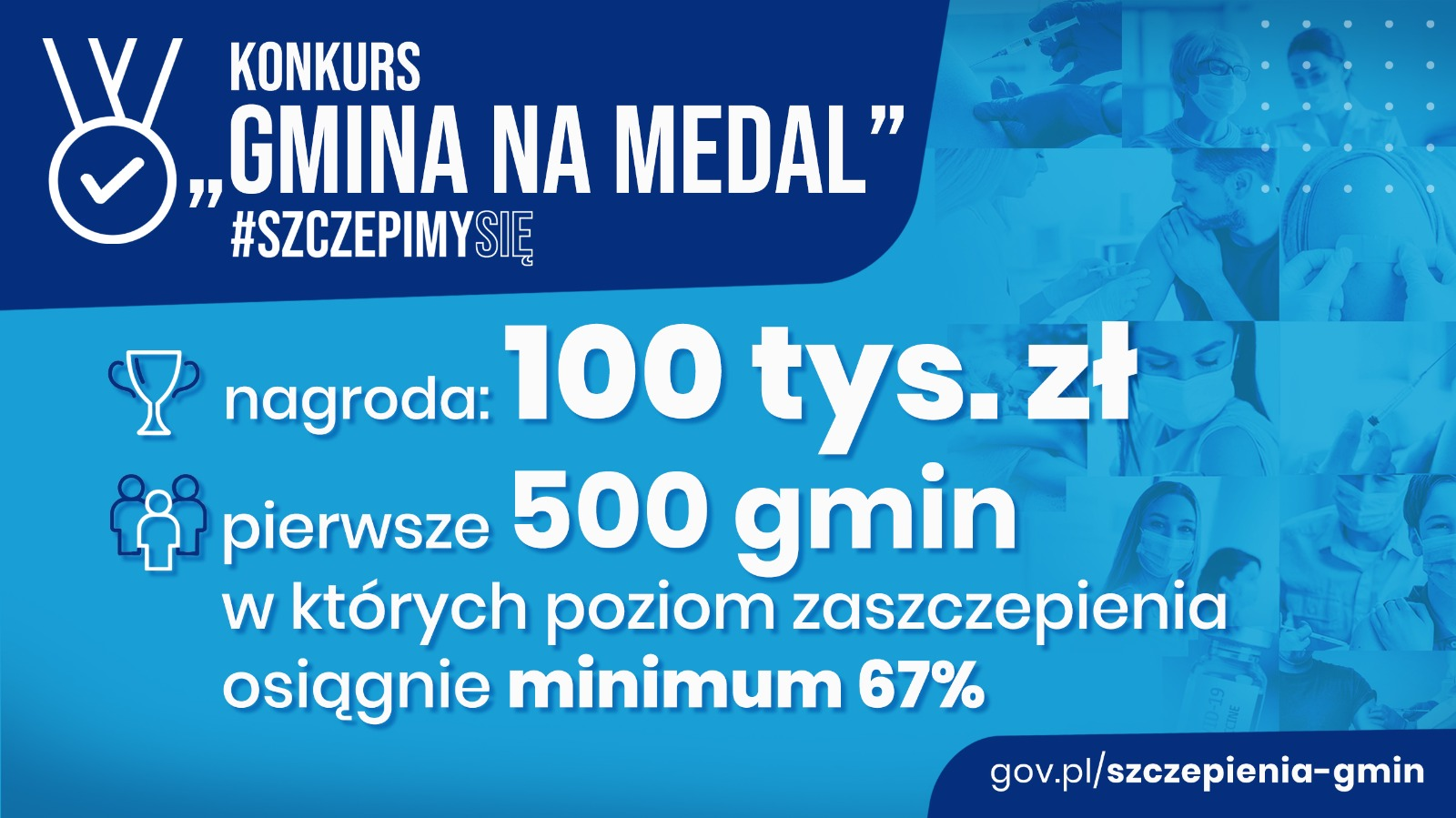 "Infografika dot. konkursu ""Gmina na Medal""."