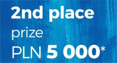 2nd place prize PLN 5,000*