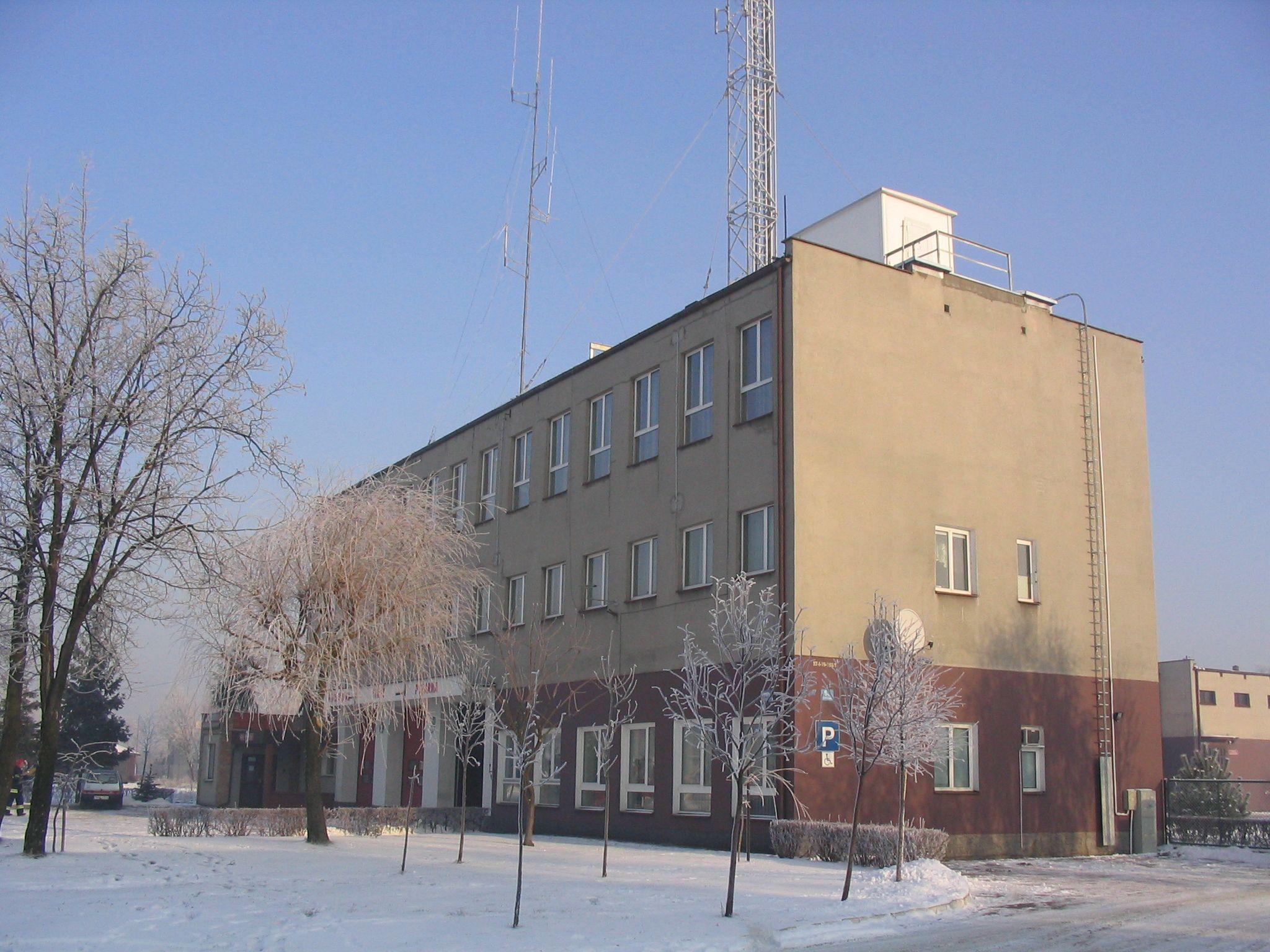 Fot. KP PSP w Nowym Mieście Lubawskim przed termomodernizacją