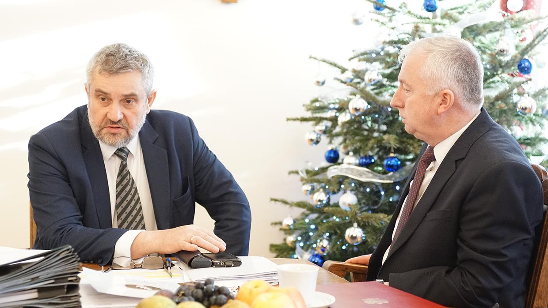 Min. Ardanowski z nowo nominowanym podsekretarzem stanu Ryszardem Kamińskim