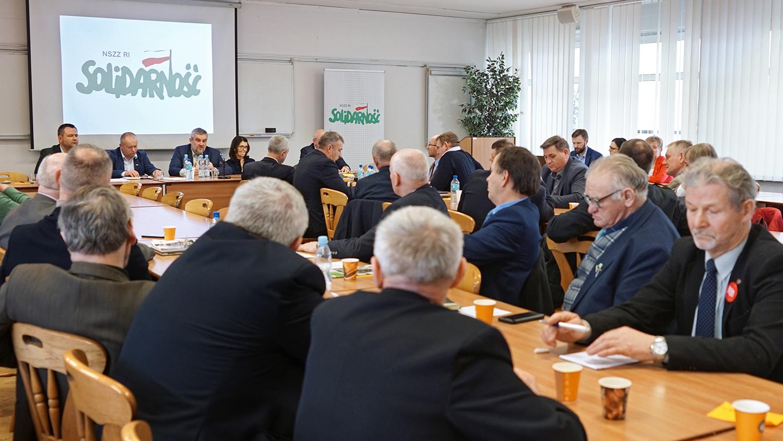 Spotkanie przedstawicieli NSZZ RI Solidarność z min. J. K. Ardanowskim