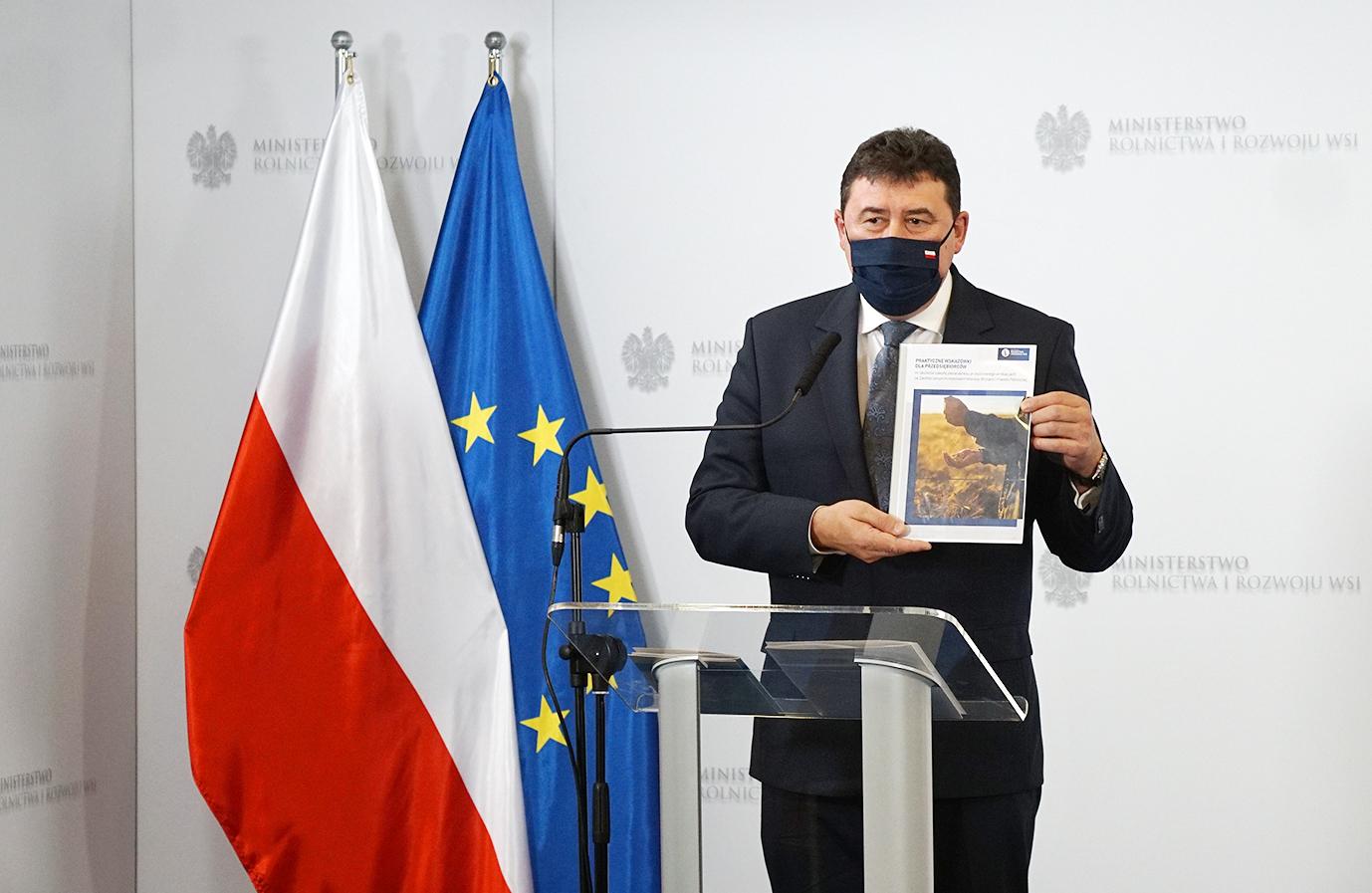 Sekretarz Stanu Ryszard Bartosik podczas konferencji na temat Brexitu