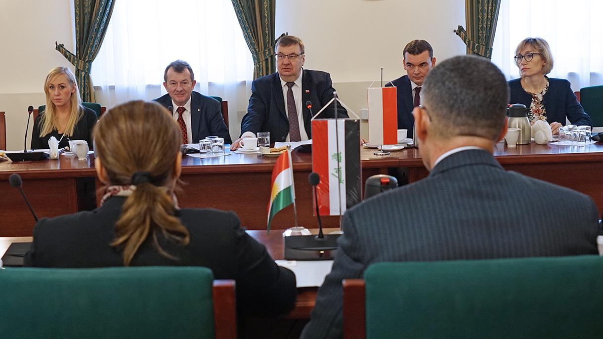 Polska delegacja podczas spotkania z delegacją Kurdystanu