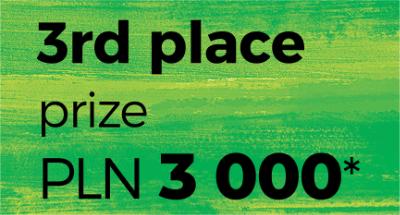 3rd place prize PLN 3,000*