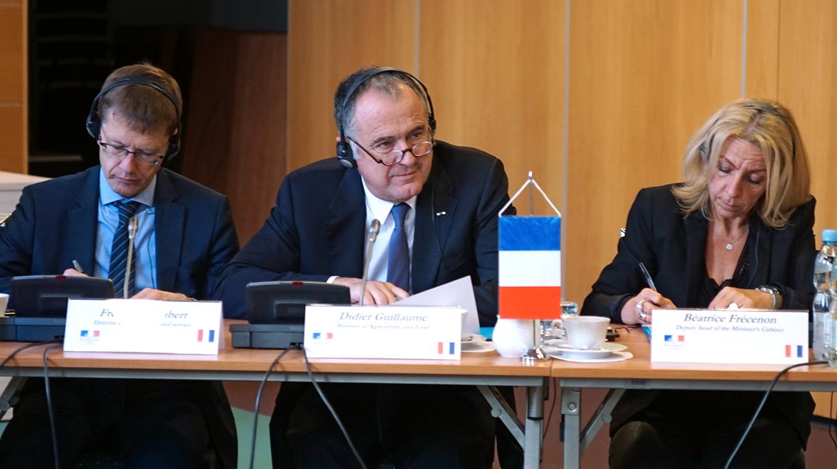 Delegacja Francji podczas spotkania w Ministerstwie Rolnictwa