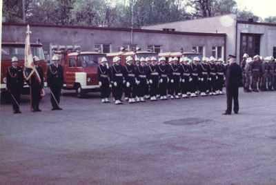 Wizytacja gen.poż. Andrzeja Stefanowskiego – Komendanta Głównego Straży Pożarnych - 15 kwietnia 1989