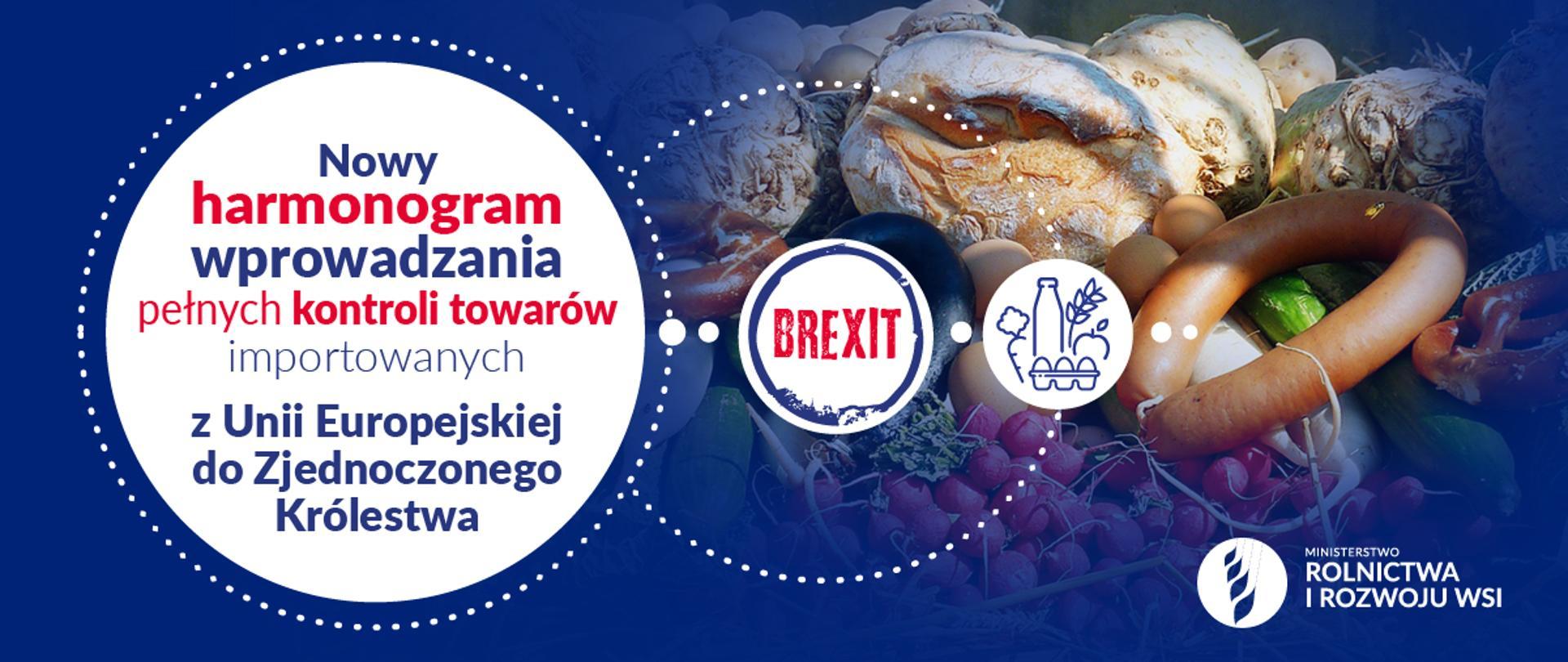 Infografika - harmonogram kontroli towarów importowanych z UE do UK