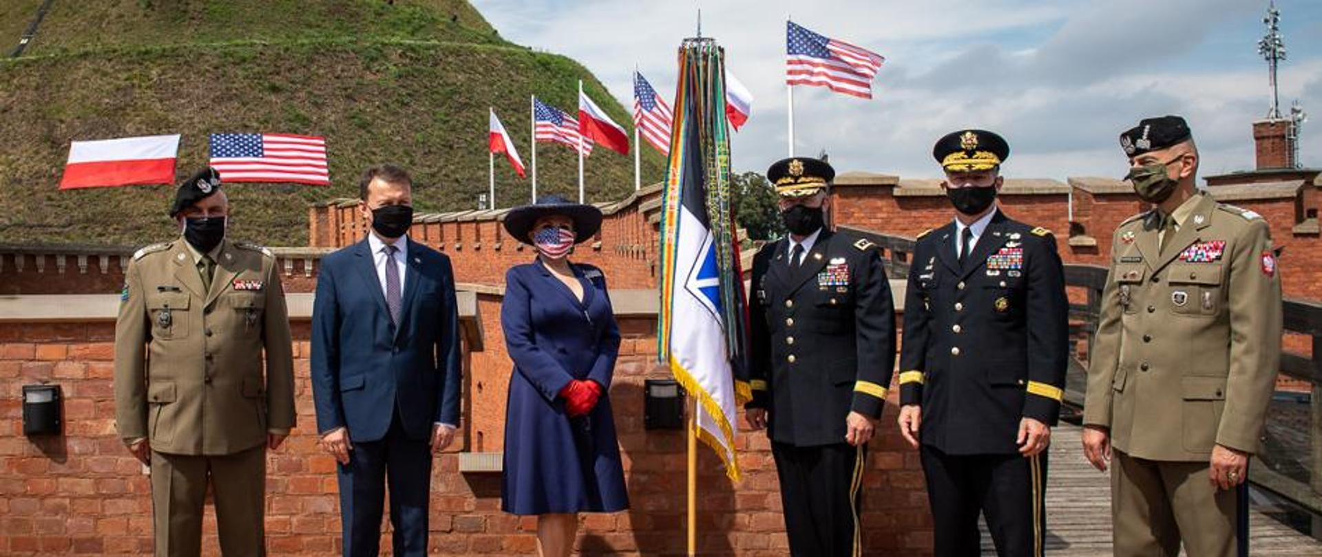 Meeting of MOD and US Ambassador at the Kosciuszko Mound to announce V corps forward HQ location in Poland