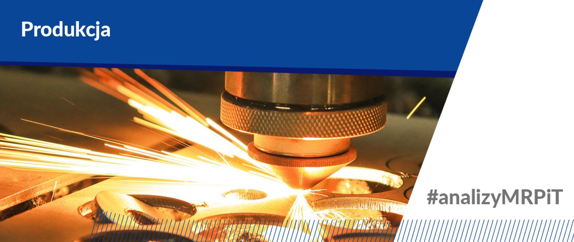 Produkcja przemysłowa w styczniu 2021 r. - Na zdjęciu laser wycinający krążki z metalu.