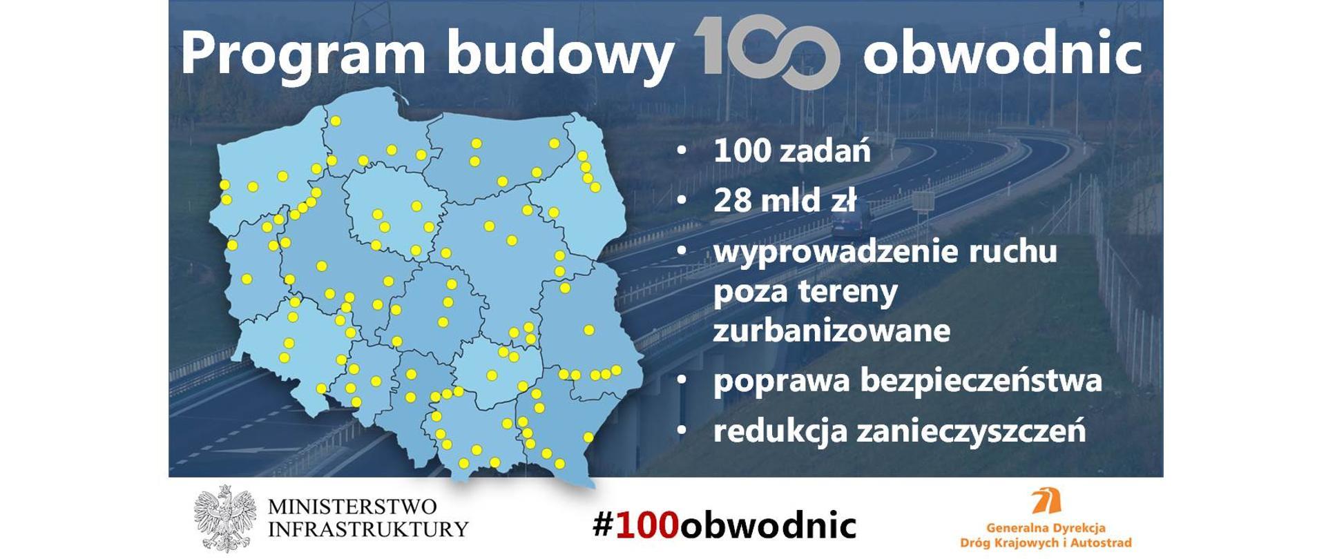 Program budowy 100 obwodnic - infografika