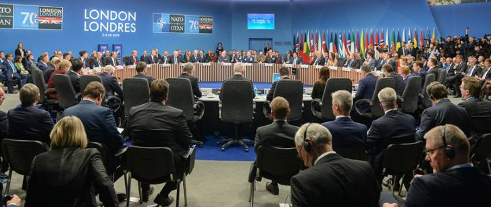 North Atlantic Council session with the participation of presidents and heads of government in London.