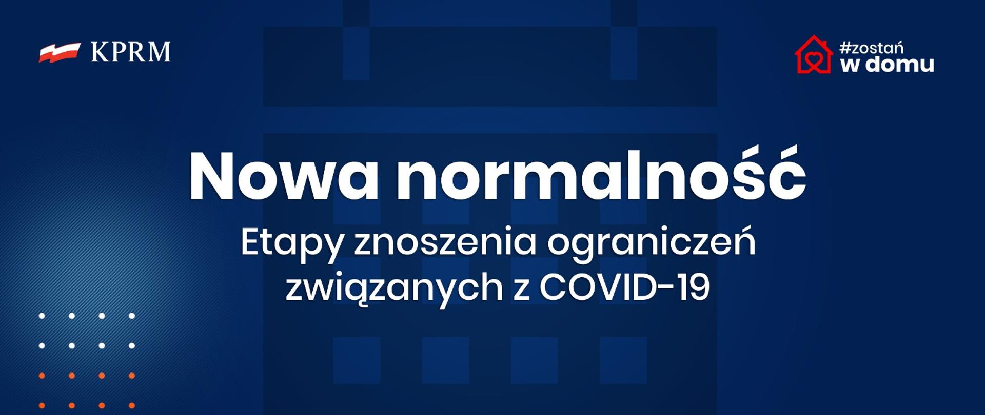 Nowa normalność: Etapy znoszenia ograniczeń związanych zCOVID-19