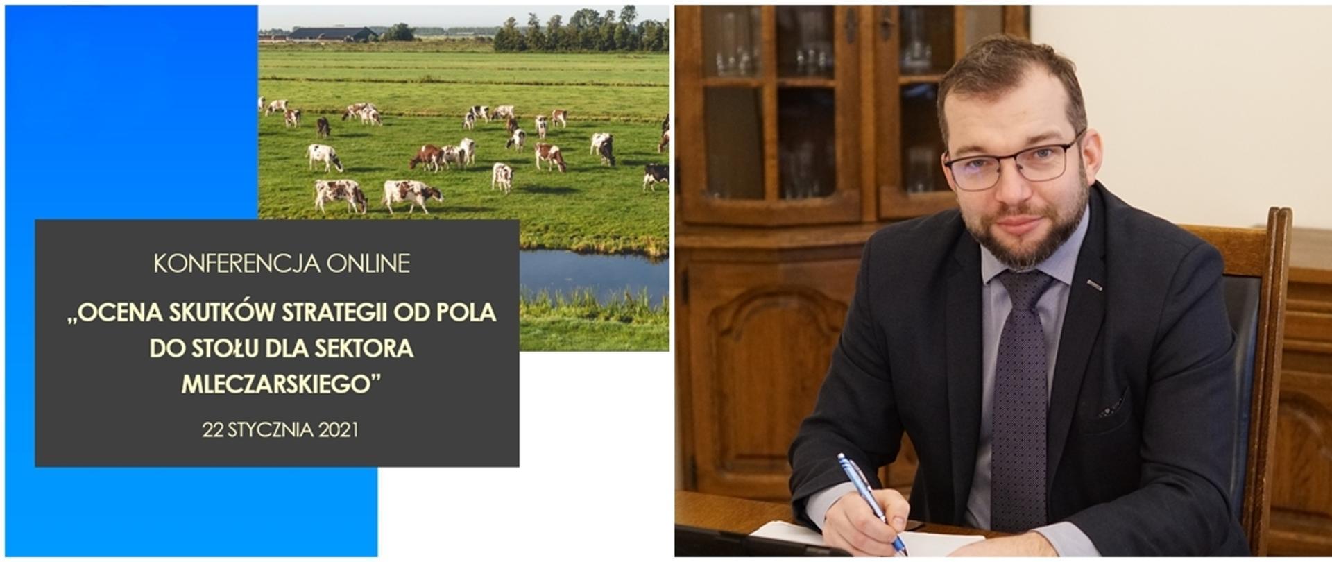 """grafika do komunikatu """"Ocena skutków strategii """"Od Pola do Stołu"""" dla sektora mleczarskiego"""""""