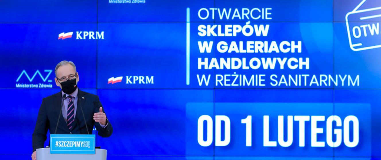Od 1 lutego otwieramy galerie handlowe i muzea. Przedłużamy pozostałe zasady bezpieczeństwa - Koronawirus: informacje i zalecenia - Portal Gov.pl