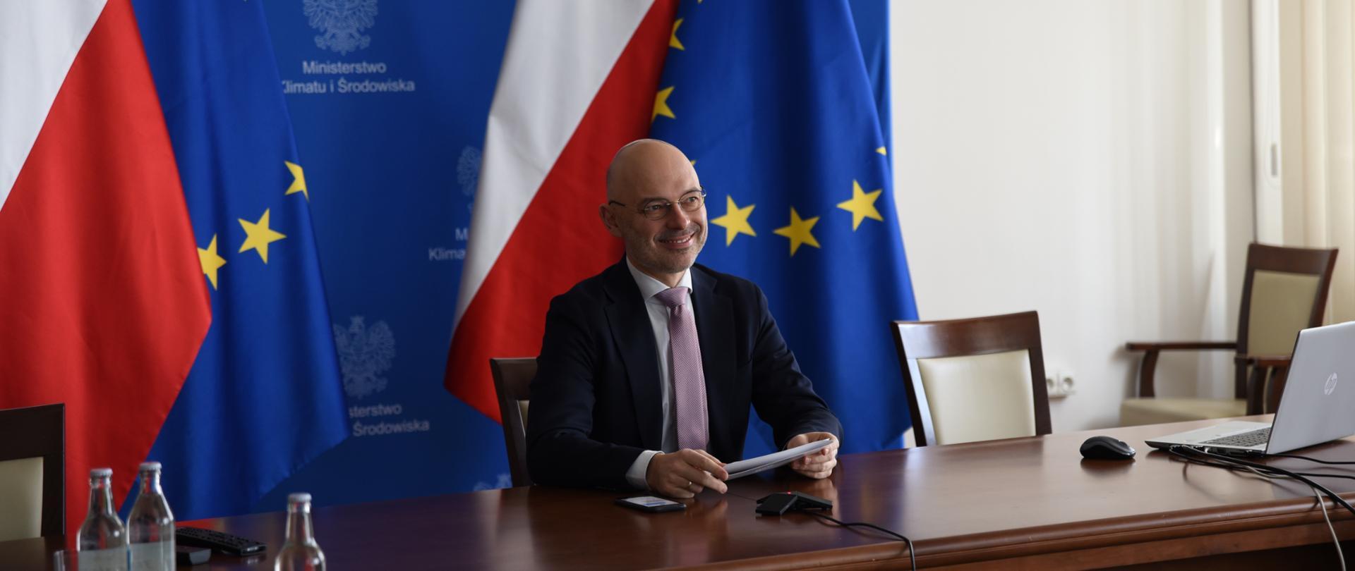 "Minister Kurtyka na spotkaniu ""Climate Positive – Agenda 2021"""